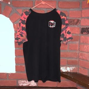 HN Hustle Now Chill Later Black/Red Camo T-Shirt